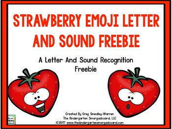 Strawberry Emoji Letters and Sounds FREEBIE! – The