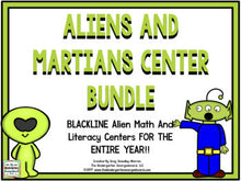 Aliens & Martians Blackline Centers for the Whole Year