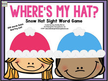 Where's My Hat? Winter Sight Words Game