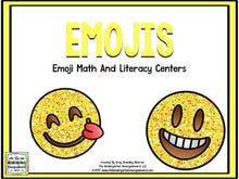 Emojis Math And Literacy Centers!