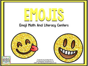 Emojis Math and Literacy Centers