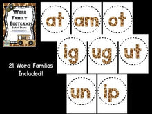 Word Family Bootcamp! Safari Theme