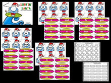 Surfin' Santa Editable Sight Words Game