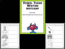 Vowel Teams Bootcamp Monster Theme