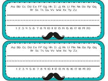 Mustache-Themed Editable Classroom Decor Set