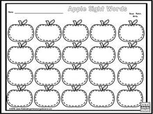 Apple Tree Sight Words!