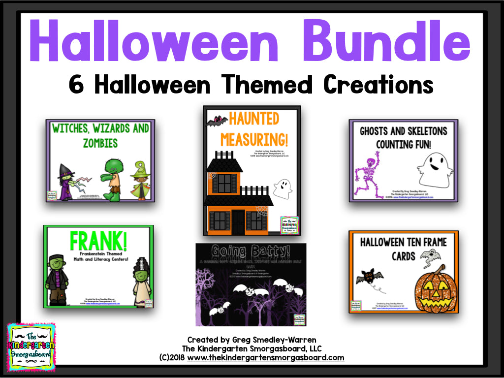 Halloween BUNDLE! A Bundle of 6 Halloween Creations!