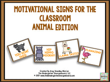 Motivational Signs Animal Theme