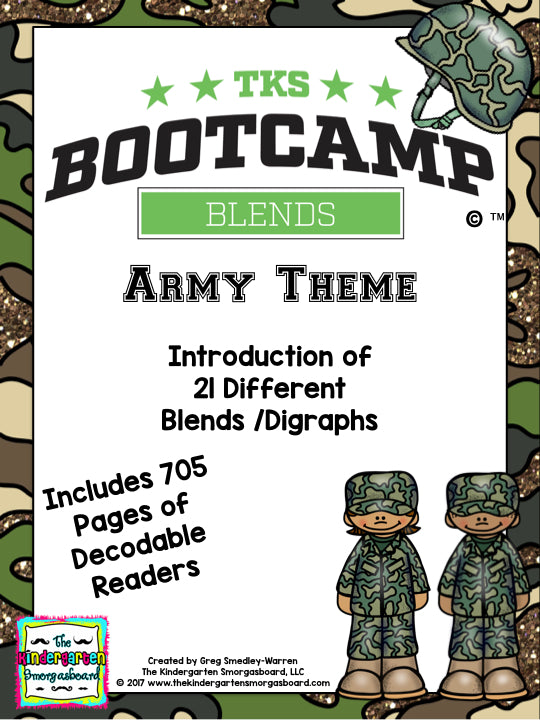 Blends Bootcamp (Army Theme) on