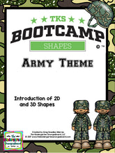Shapes Bootcamp Army Theme! A 2D And 3D Shapes Unit!