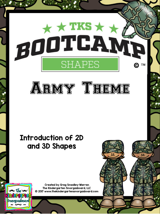 Shapes Bootcamp: A 2D and 3D Shapes Unit (Army Theme)