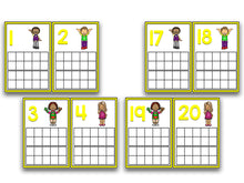 Back to School Ten Frame Cards