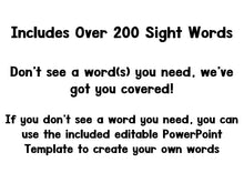 Bouquet of Sight Words Editable Assessment Project