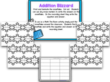 Blizzard! Blackline Snow-Themed Math and Literacy Centers