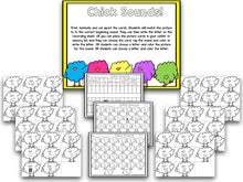 Chicks Easter Blackline Math and Literacy Centers