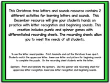 Christmas Tree Letters & Sounds