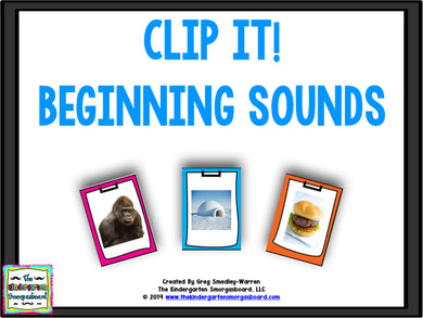 Clip It! Beginning Sounds