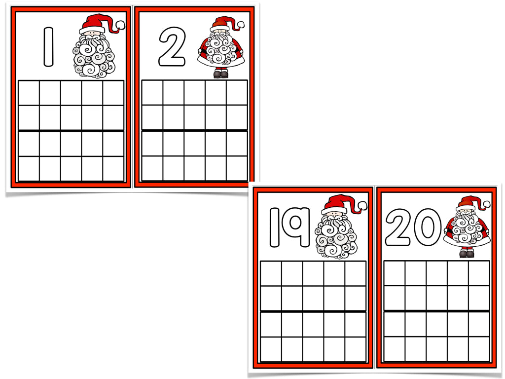 December Ten Frame Cards! – The Kindergarten Smorgasboard Online Store