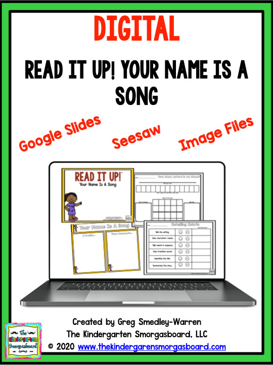 Digital Read It Up! Your Name Is A Song