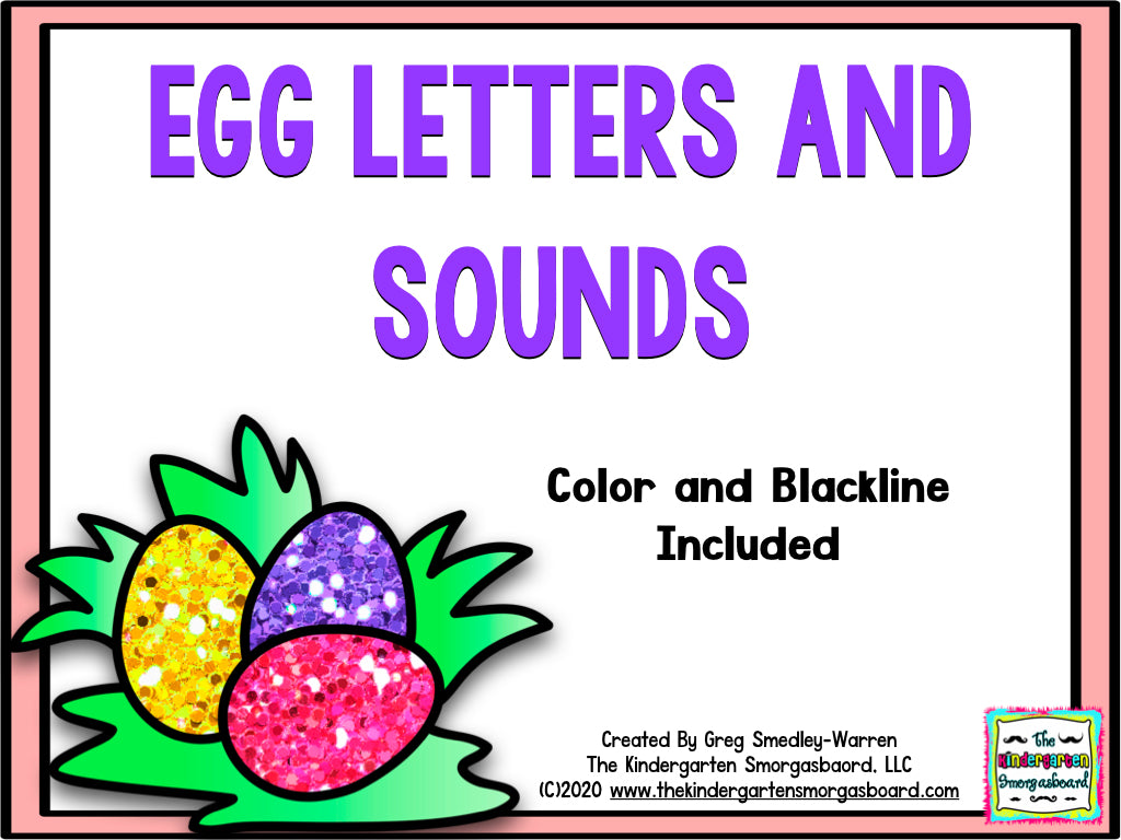 Egg Letters and Sounds Puzzles