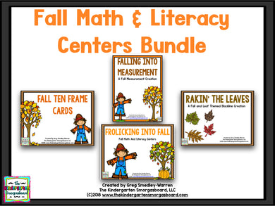 Fall Math And Literacy BUNDLE!