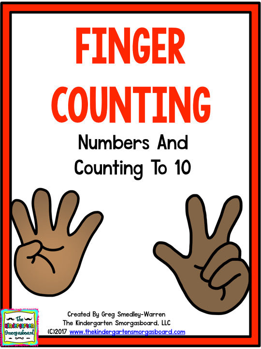 Finger Counting to 10 with Matching Posters