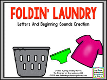 Foldin' Laundry! Letters & Beginning Sounds