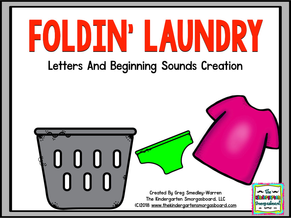 Foldin' Laundry! Letters and Beginning Sounds
