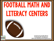 Football Math and Literacy Centers