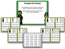 Frankenstein Halloween Math and Literacy Centers