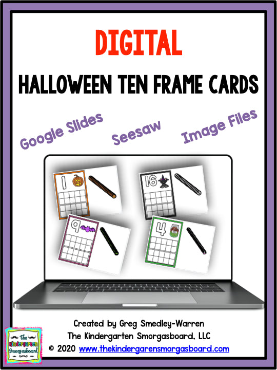 Digital Halloween Ten Frame Cards
