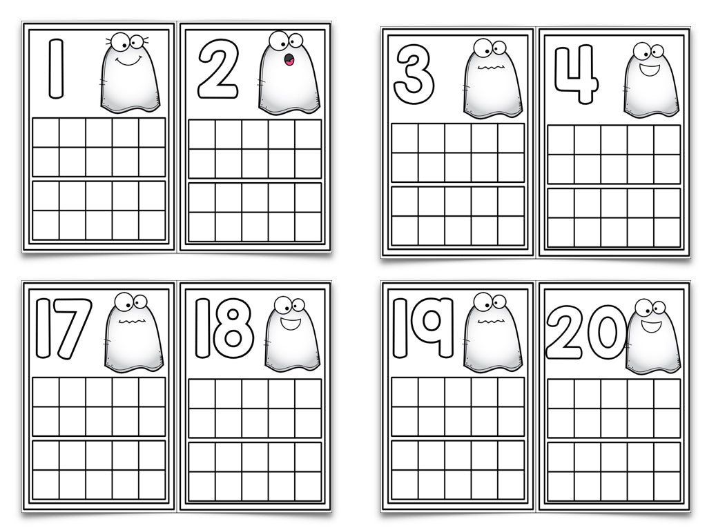 Halloween Ten Frame Cards! – The Kindergarten Smorgasboard Online Store