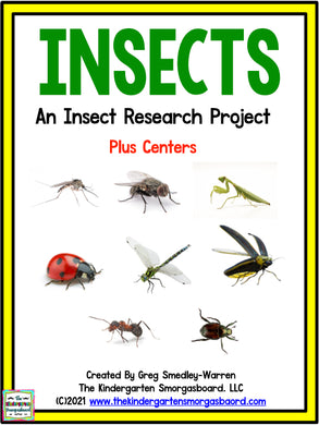 Insects: A Research and Writing Project PLUS Centers!