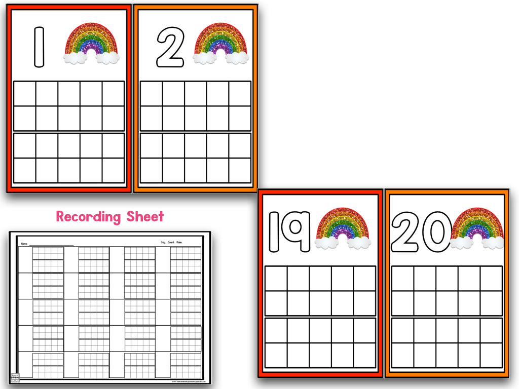 March Ten Frames! – The Kindergarten Smorgasboard Online Store