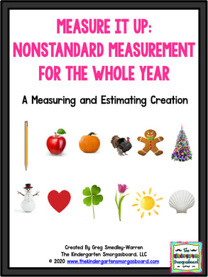 Measure It Up Non-Standard Measurement For The Whole Year