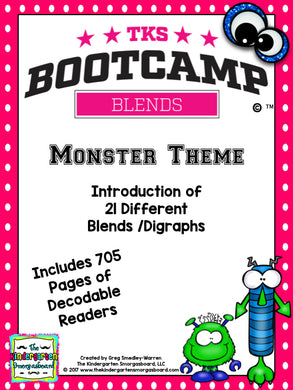 Blends Bootcamp (Monster Theme)