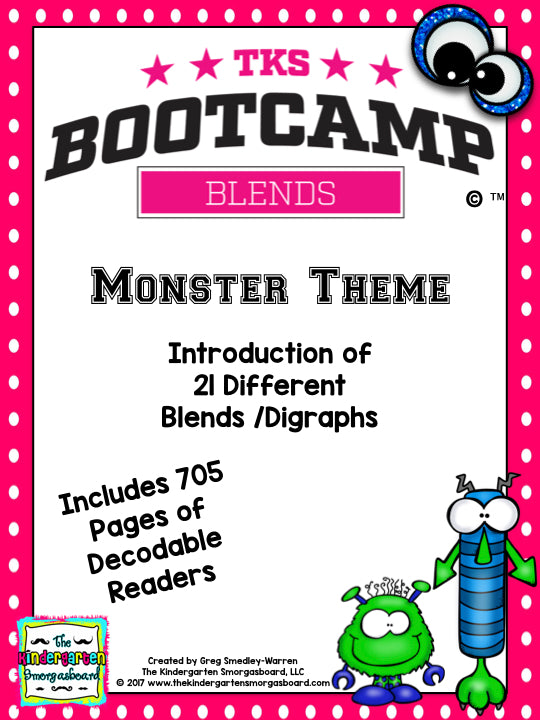 Blends Bootcamp! Monster Theme
