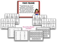 Talk Like a Pirate Day! Blackline Math and Literacy Centers