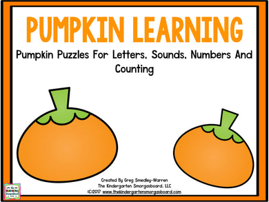 Pumpkin Learning: Letters, Sounds, Numbers & Counting