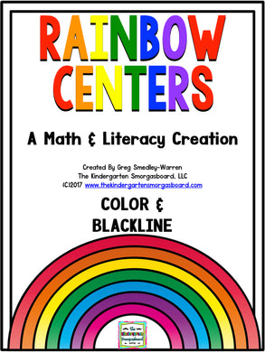 Rainbow Math & Literacy Centers