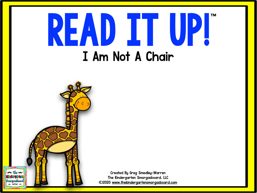 Read It Up! I Am Not A Chair