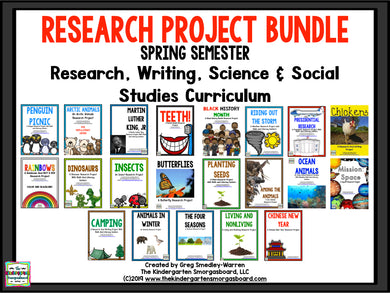Research Project Bundle: SPRING Research and Writing Curriculum