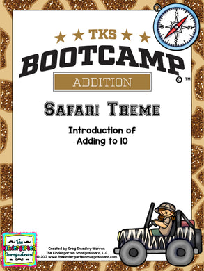 Addition Bootcamp: Adding to 10 (Safari Theme)