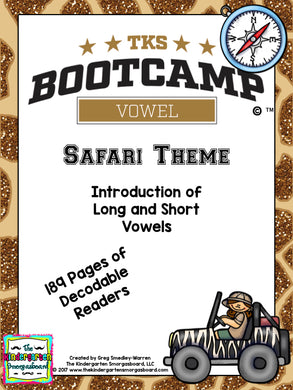 Vowel Bootcamp Safari Theme: A Short And Long Vowels Creation!