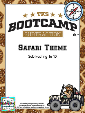 Subtraction Bootcamp: Subtracting to 10 (Safari Theme)