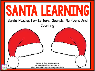 Santa Learning: Letters, Sounds, Numbers, and Counting