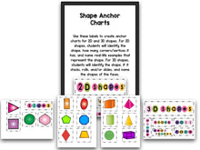 Shapes Bootcamp:  A 2D and 3D Shapes Unit (No Theme)