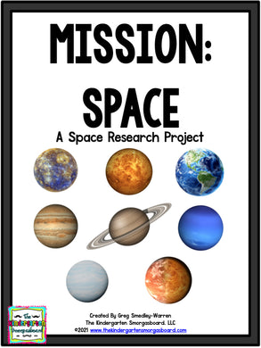 Space: A Research and Writing Project PLUS Centers!