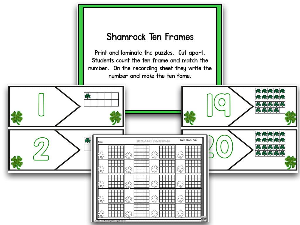St. Patrick\'s Day Math And Literacy Centers! – The Kindergarten ...