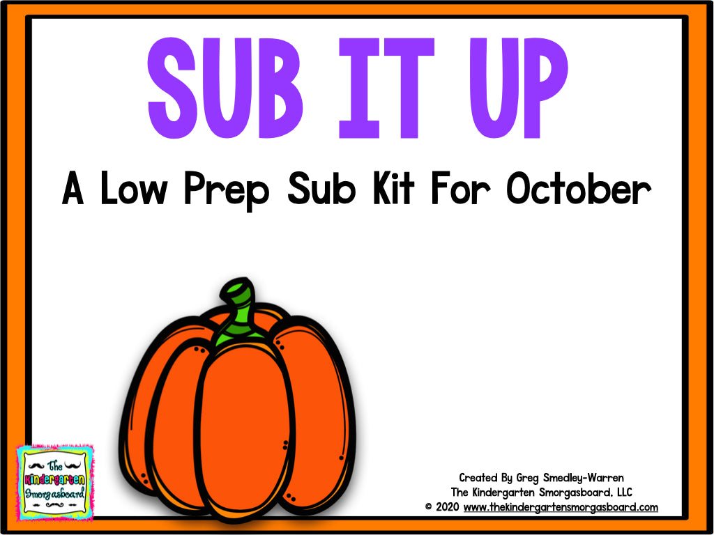 Sub It Up! October
